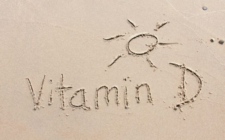 Vitamin D etched in the sand